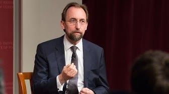 A Conversation with High Commissioner Zeid Ra'ad Al Hussein