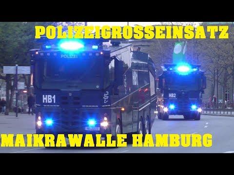 POLIZEIGROSSEINSATZ MAIKRAWALLE HAMBURG 2017