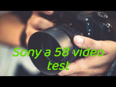 Sony a58 video