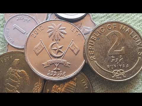 Maldives beautiful current coins
