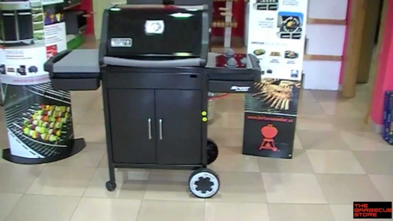 barbacoa a gas weber spirit classic e 210 negra youtube. Black Bedroom Furniture Sets. Home Design Ideas