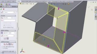 SOLIDWORKS 판금 플랜지 일체형 설계 방식.