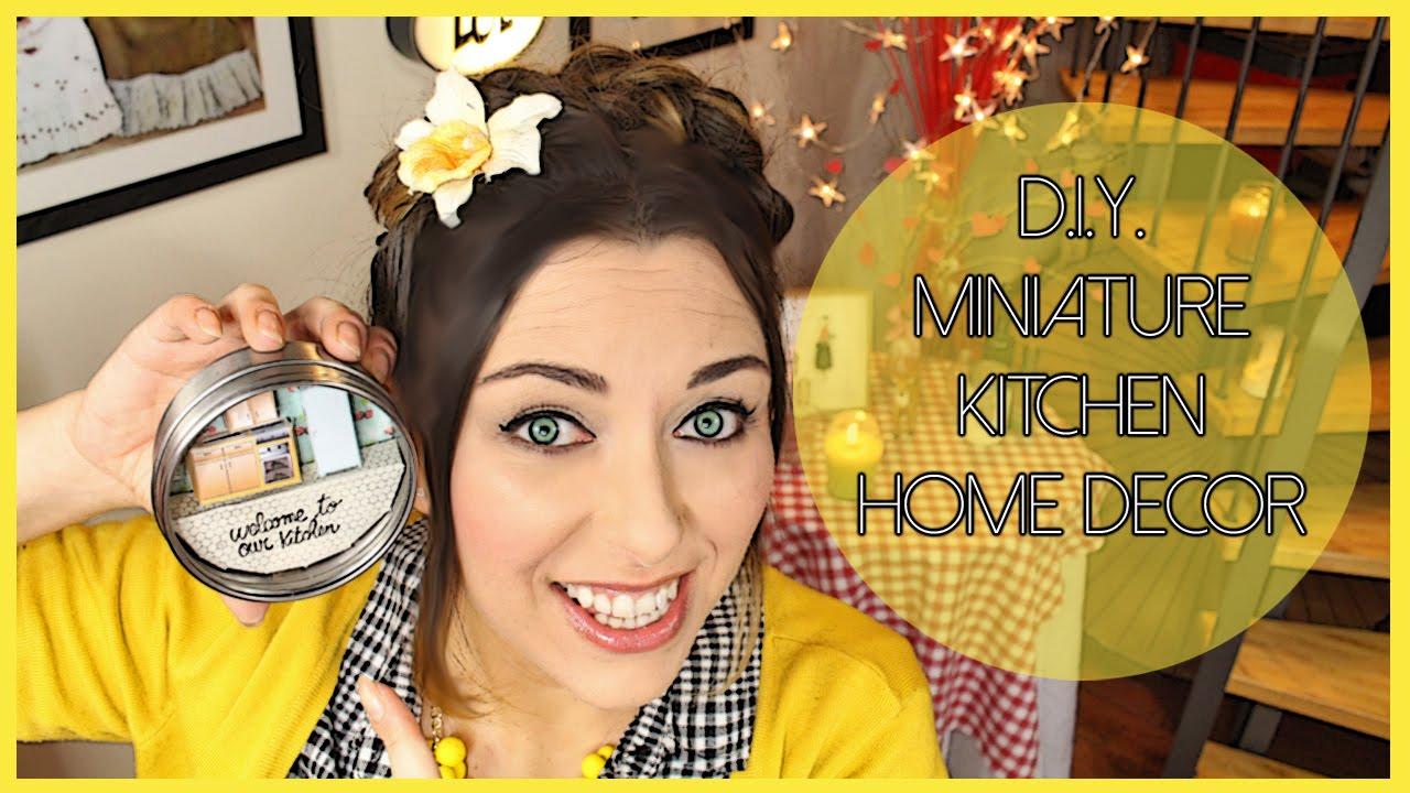 D.I.Y. Miniature Kitchen home decor - Decorazione fai da te con ...