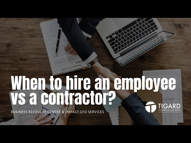 When to hire an employee or professional service provider?