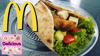 Homemade Crispy Chicken McWrap - How to McWrap Tutorial - Wrap Recipe - Healthy Food - Delicious