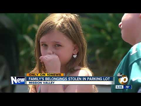 Family's belongings stolen in parking lot