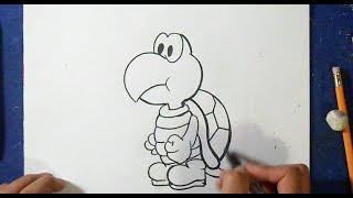 Cómo dibujar a Koopa Troopa | How to draw Troopa