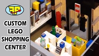 Lego shopping tour of a brick built Lego Store MOC