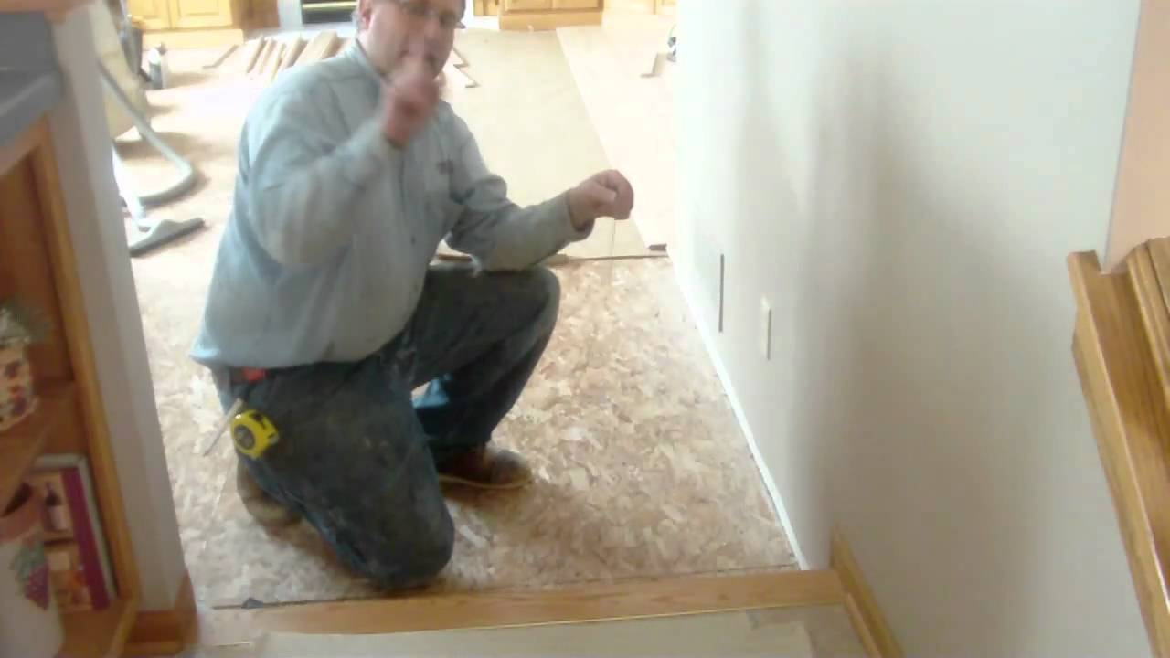 Install Wood Floor Straight With String Mp4