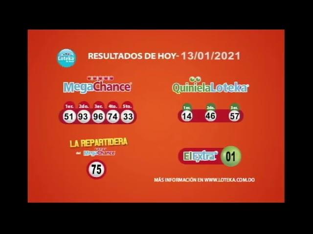 Loteka Lotería Electrónica Sorteo 07:55 PM 13-01-2021