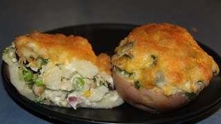 Stuffed Potatoes with Vegetables and Feta