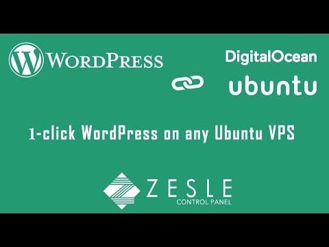 Wordpress 1-click Install on Ubuntu/DigitalOcean | ZesleCP - Web Control Panel