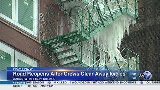 連なりすぎる「つらら」スプリンクラーの誤作動により21階建てビルの非常階段が完全凍結(アメリカ)