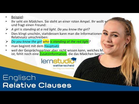 Relative Clauses - Englisch Nachhilfe