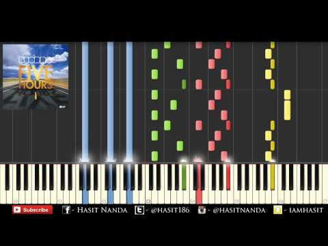 Deorro - Five Hours (Piano Tutorial) // Hasit Nanda