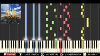 Deorro - five hours (piano tutorial) // hasit nanda