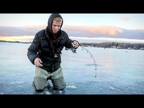 Michigan Ice Fishing 2019 Feeding Frenzy