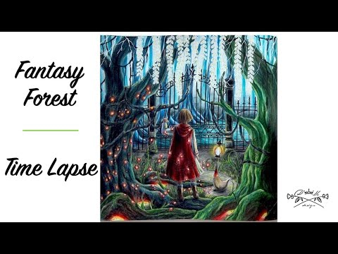 romantic-country-the-second-tale- -fantasy-forest- -time-lapse-coloring