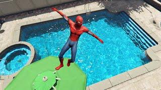 GTA 5 Crazy Spiderman ragdolls vol.4