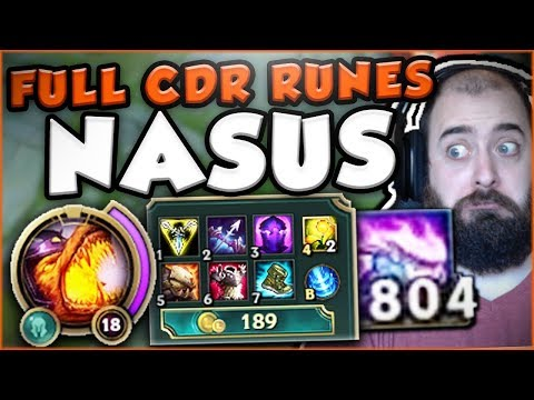 Download Youtube: NASUS 25% CDR AT LEVEL 1?! WHO CAN STOP ME NOW?! NASUS TOP GAMEPLAY SEASON 7! League of Legends