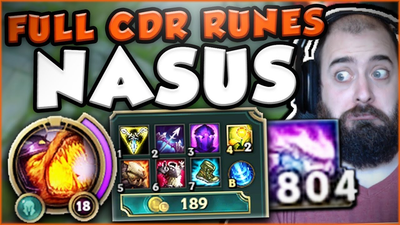 Nasus 25 Cdr At Level 1 Who Can Stop Me Now Nasus Top Gameplay
