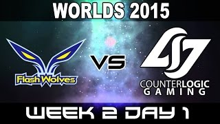 FW vs CLG - 2015 World Championship Week 2 Day 1 - yoe Flash Wolves vs Counter Logic Gaming