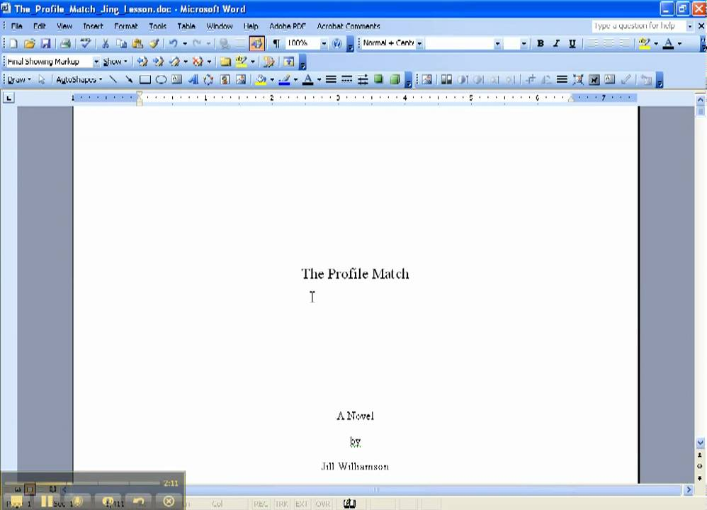 formatting a manuscript part 1 page set up and text