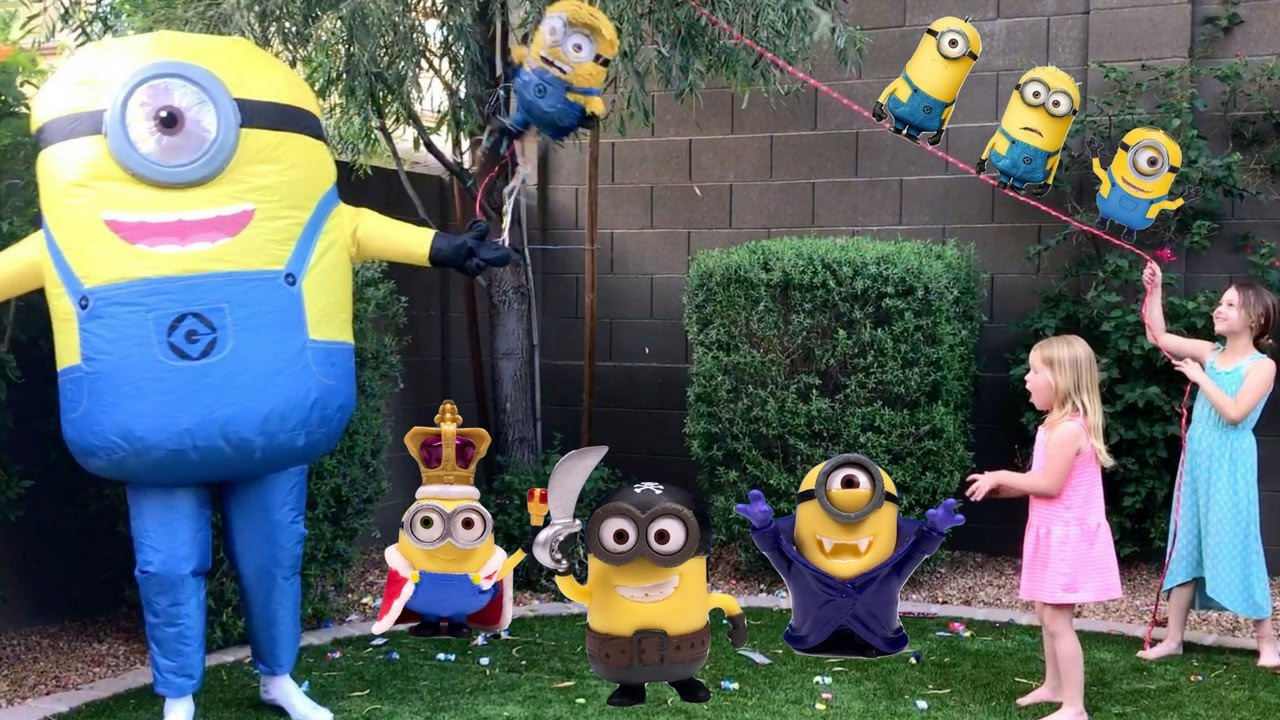 Silly Minion and Kids Play Outside ~ Tic Tac Toy Trailer ...