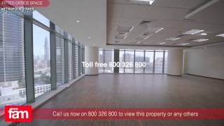 Metropolis Tower, Dubai - Fitted Office with Burj Khalifa view for Rent - Business Bay
