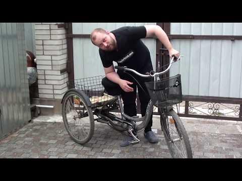 Обзор трехколесного взрослого велосипеда Stels как донора для переделки.