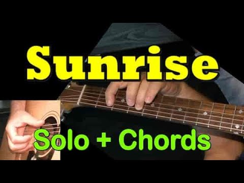 SUNRISE: Easy Guitar Lesson (Chords + Solo) by GuitarNick