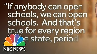 New York Gov. Andrew Cuomo Allows Schools To Reopen In The Fall   NBC Nightly News