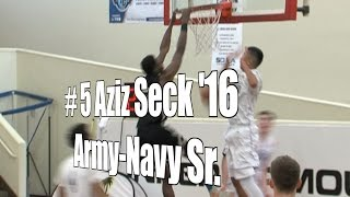 Aziz Seck '16, Army-Navy Senior at the UA Holiday Classic.