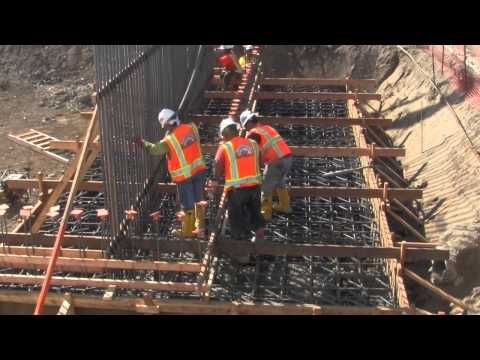Centinela Ave Bridge Foundation Cement Pour