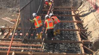 Centinela Ave Bridge Foundation Cement Pour