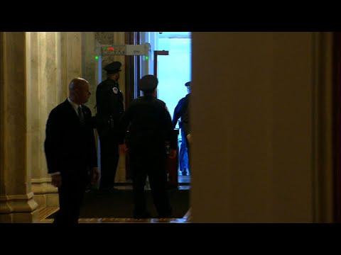 Senators sworn in for Trump impeachment trial