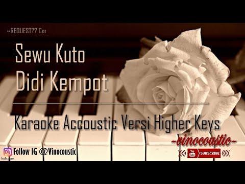 Didi Kempot - Sewu Kuto Karaoke Piano Versi Higher Keys