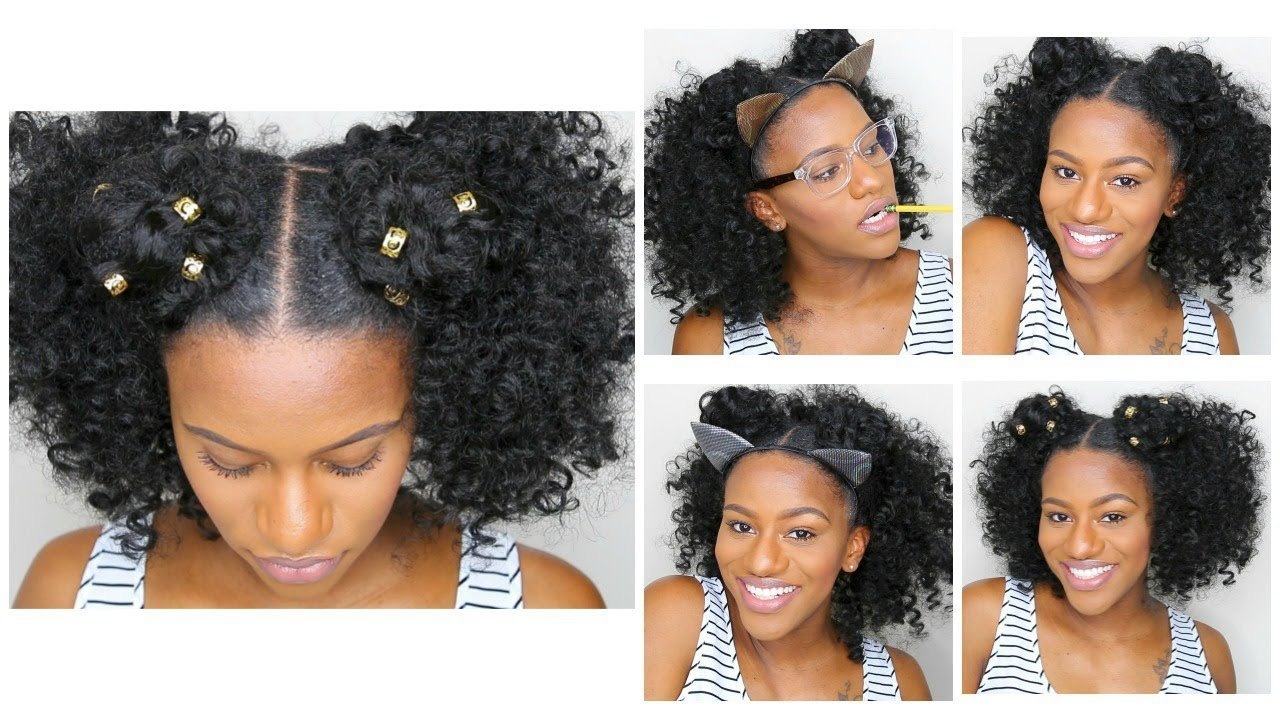 styles of natural hair 3 easy hairstyles for back to school braidless 7555 | maxresdefault