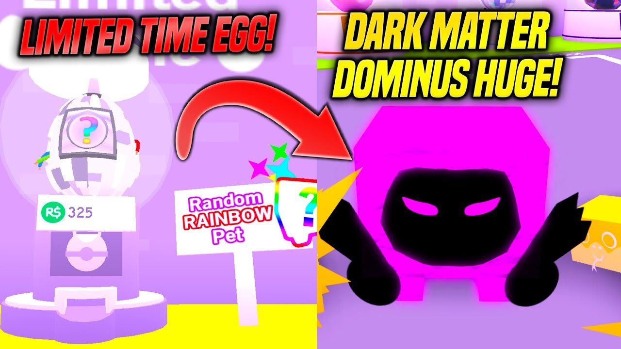 Dark Matter Roblox - New Dark Matter Pets And Limited Time Rainbow Egg In Pet