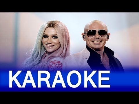 Timber DUET – Pitbull ft  Ke$ha Lyrics  Instrumental Karaoke