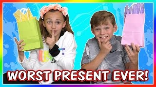 Kayla and Tyler challenge each other to a game of the worst present...