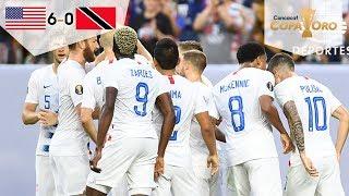 Estados Unidos golea a Trinidad | | USA 6 - 0 Trinidad y Tobago | Copa Oro  | Televisa Deportes