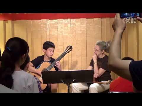 Elena Papandreou master class in Tianjin China 2016 (Bach Prelude BWV 1006a)