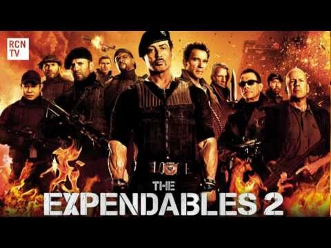 The Expendables 2  Schwarzenegger, Stallone & Van Damme Interview -  Injuries and Rivalry