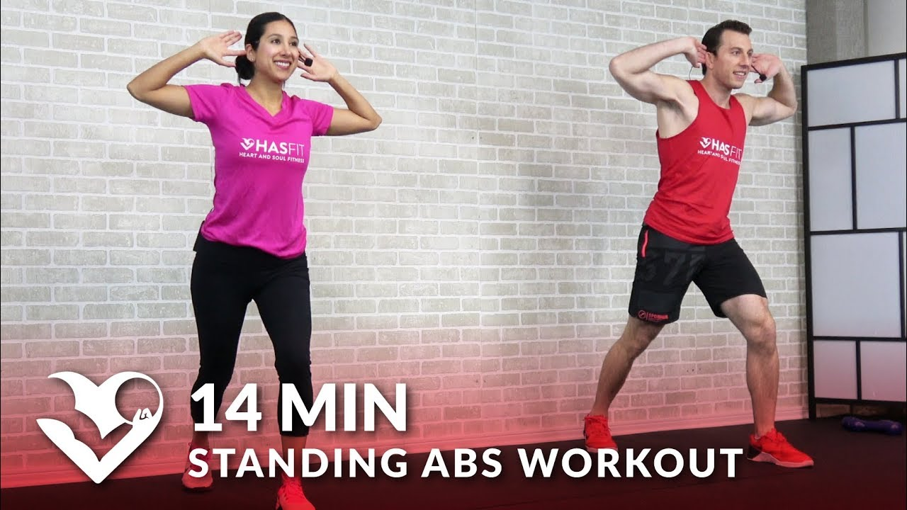 14 minute standing abs workout low impact standing up ab