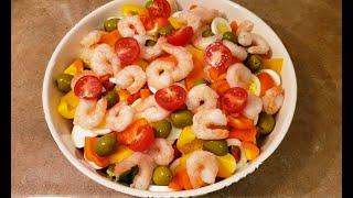 Салат с Креветками | Быстрая Кухня