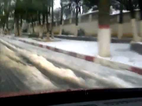 SNOW IN ALGIERS TOWN CENTER--WELCOME TO ALGERIA-4-2-2012