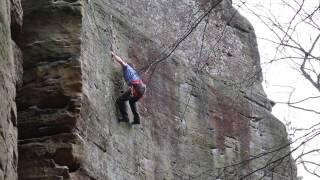 Tim Climbing Kaffisdous 7a+ @ Berdorf