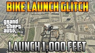 Gta 5 Online - New Bike Launch Glitch! Launch 1,000+ Feet!