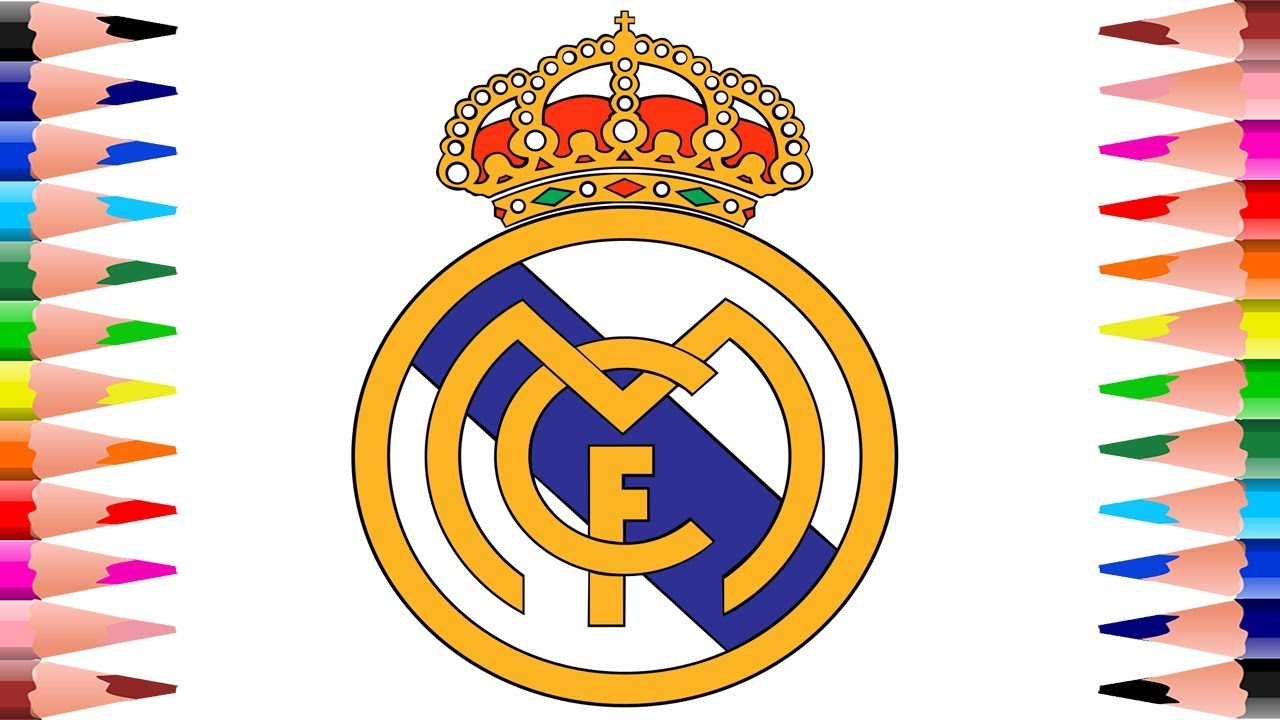 Coloring Real Madrid C.F. Logo - How to Paint Football club Coloring ...